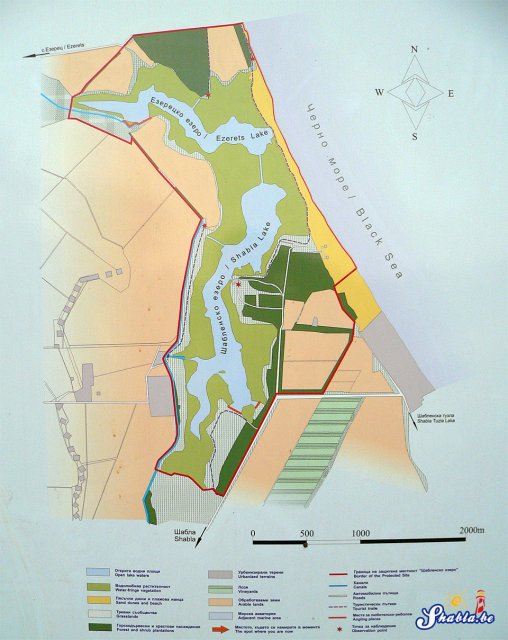 Map of Shabla lake protected site